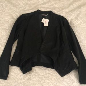 JustFab Black leather jacket